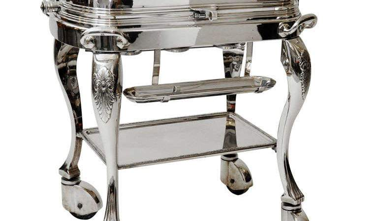 Silver Plated Meat Trolley Stdibs
