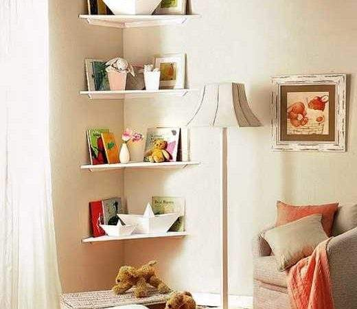 Simple Diy Corner Book Shelves Adding Storage Spaces
