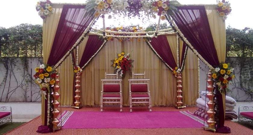 Simple Hindu Wedding Stage Decoration Nice