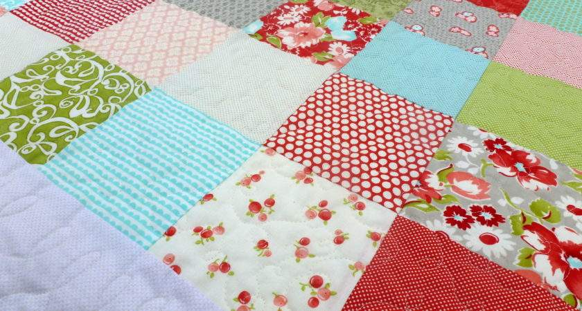 Simple Patchwork Baby Quilt Finish Annemarie Chany