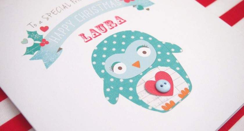 Simple Personalised Christmas Cards Placement