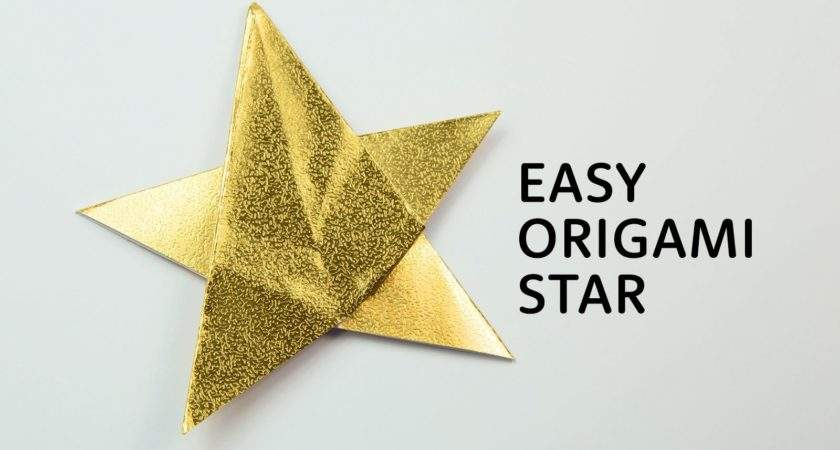 Simple Point Origami Star Instructions