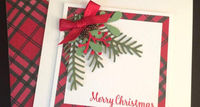 Simple Pretty Pines Holiday Card Idea Stampin
