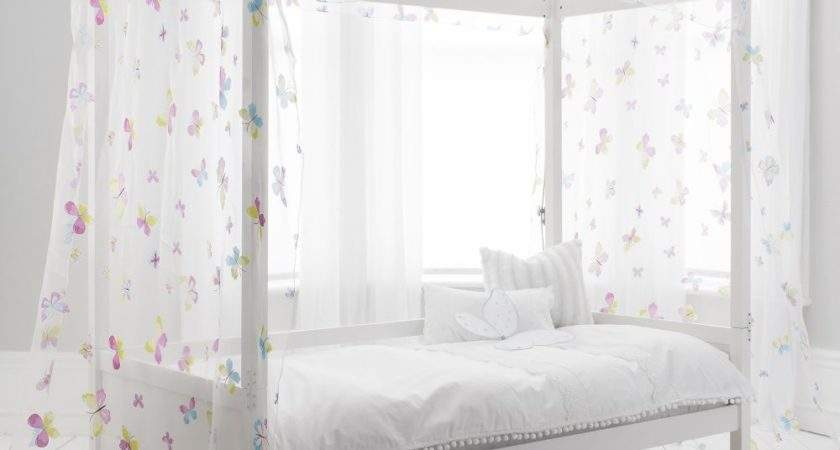 Single Bed Four Poster Butterfly Canopy Noa Nani