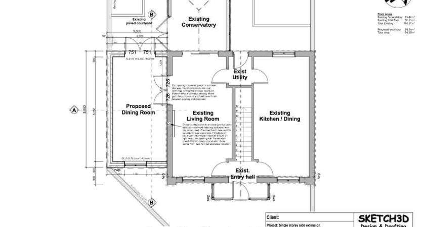 Single Storey House Extension Plans Home Design Style