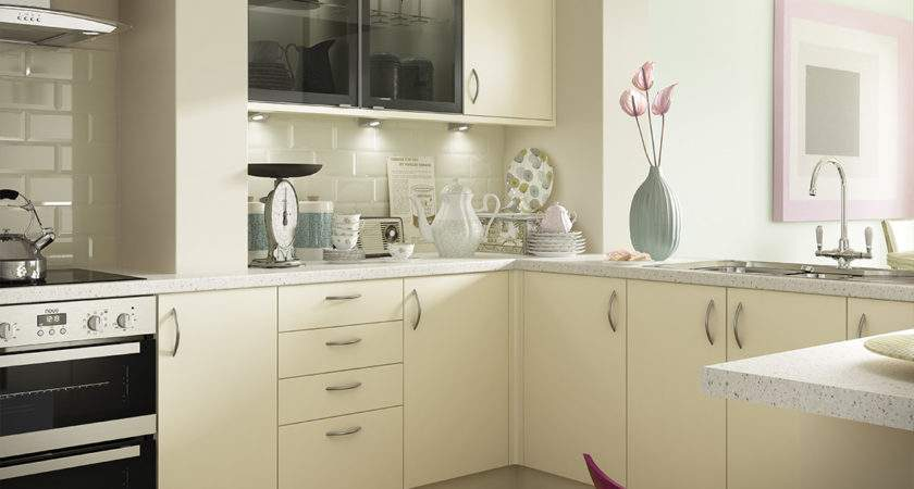 Slab Style Cream Kitchens Options Range Benchmarx