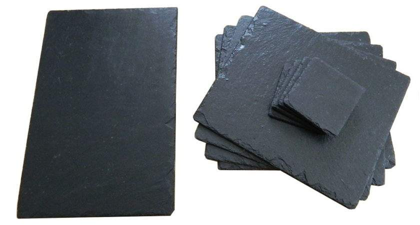 Slate Placemats Coasters Centre Tray Cheese Board