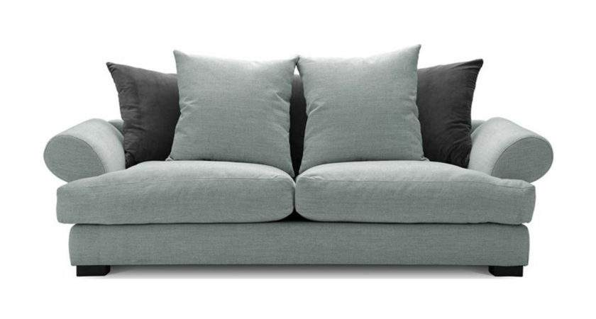 Slouch Tweed Seater Sofa Duck Egg Next Day Delivery