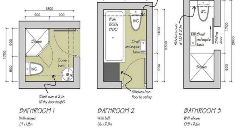 Small Bathroom Layouts Shower Plan