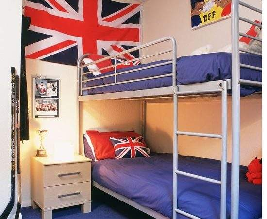 Small Boys Bedroom Bunk Beds Union Flag