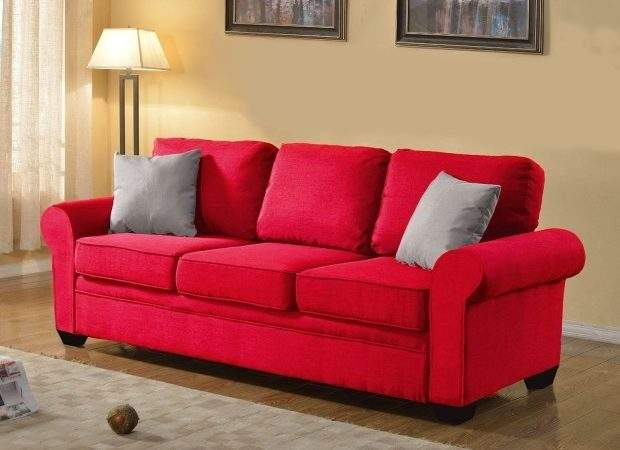 Small Red Sofa Bed Bonners Furniture Thesofa