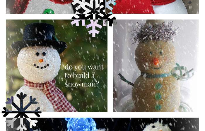 Snowman Ornaments Holiday Decorations Smoothfoam