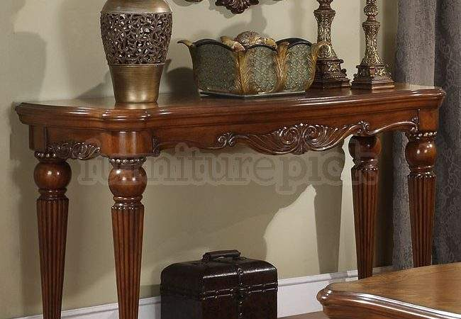 Sofa Decorate Table Console Behind