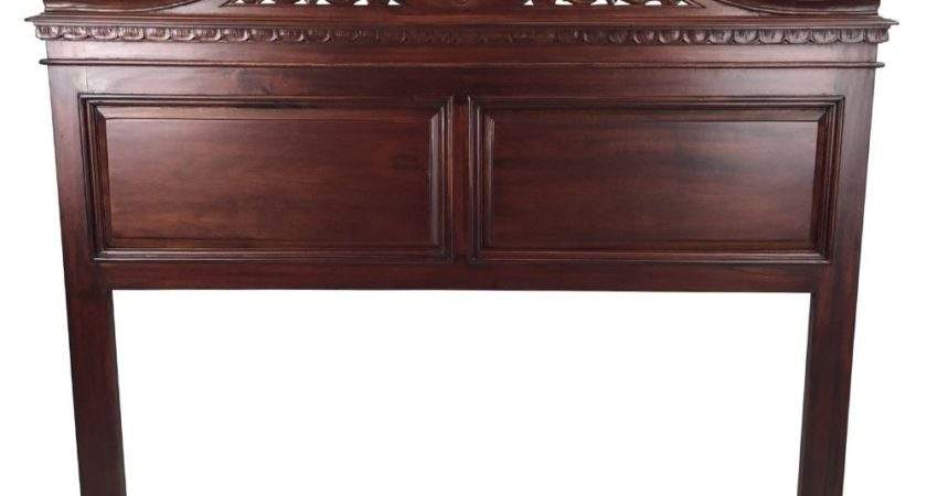 Solid Mahogany Wood Chippendale Bed Head Queen
