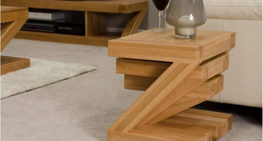 Solid Oak Designer Furniture Nest Three Coffee Tables