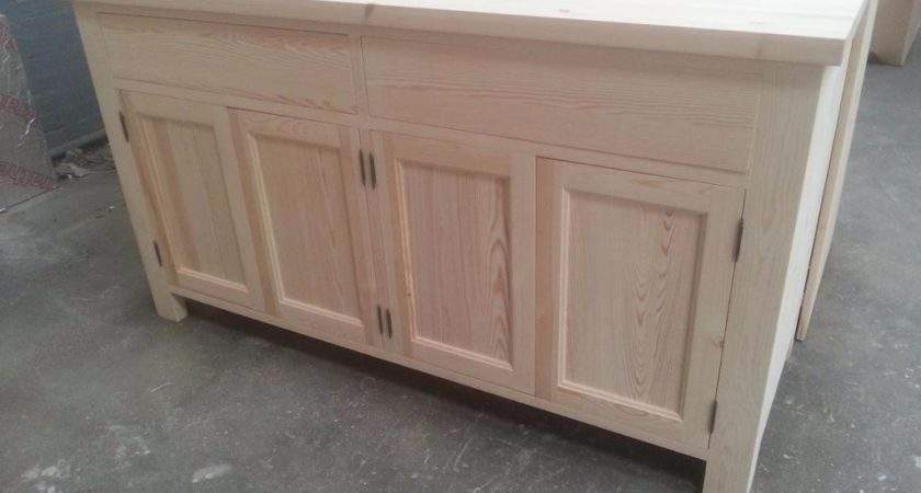 Solid Pine Dresser Base Standing Can Integrated