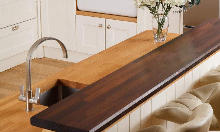Solid Wood Breakfast Bar Worktops Kitchen Bars