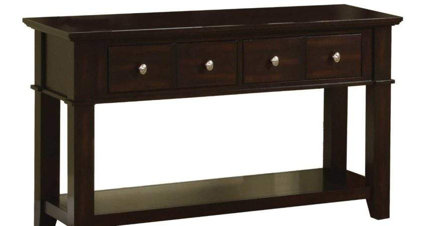 Solid Wood Console Table Drawers Storage Consumer