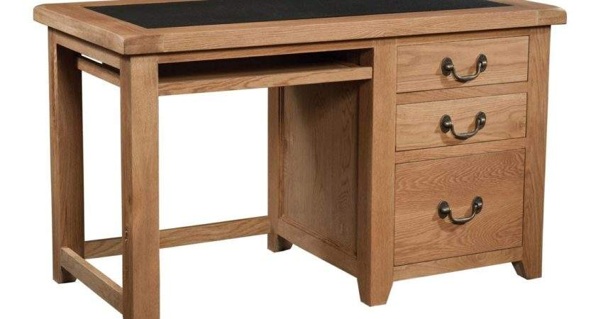 Somerset Oak Office Desk Furniture Plus