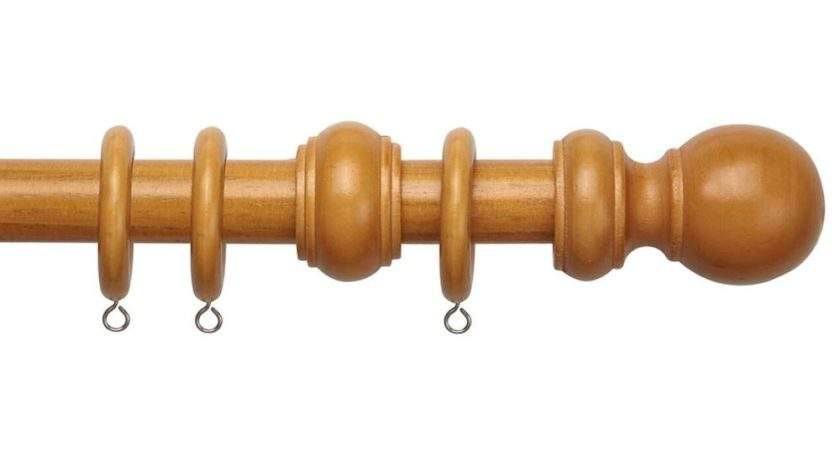 Speedy County Antique Pine Wooden Curtain Pole