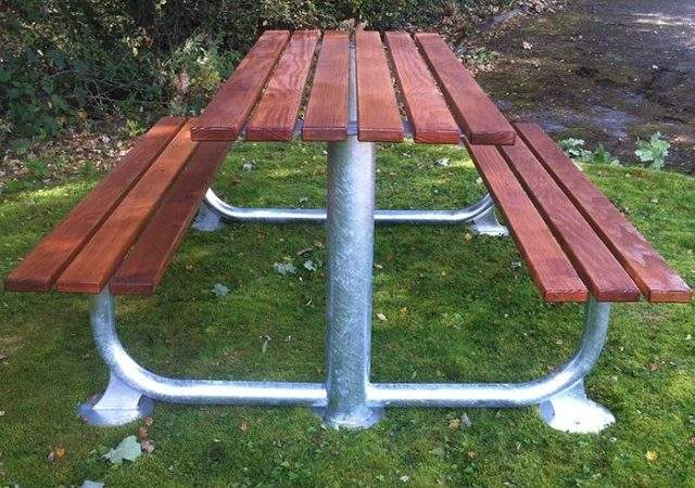 Square Timber Picnic Table Street Furniture