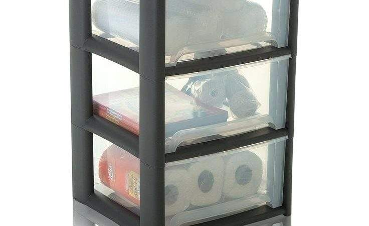 Stackable Plastic Storage Drawers White Ikea