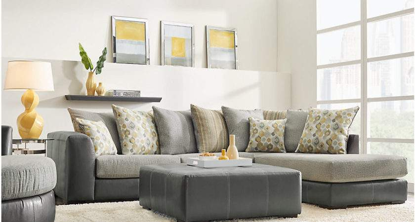 Stafford Gray Sectional Living Room Clearance