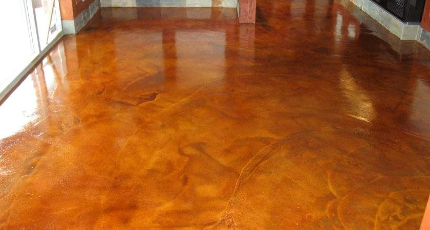 Stained Concrete Floors Different Home Flooring Ideas
