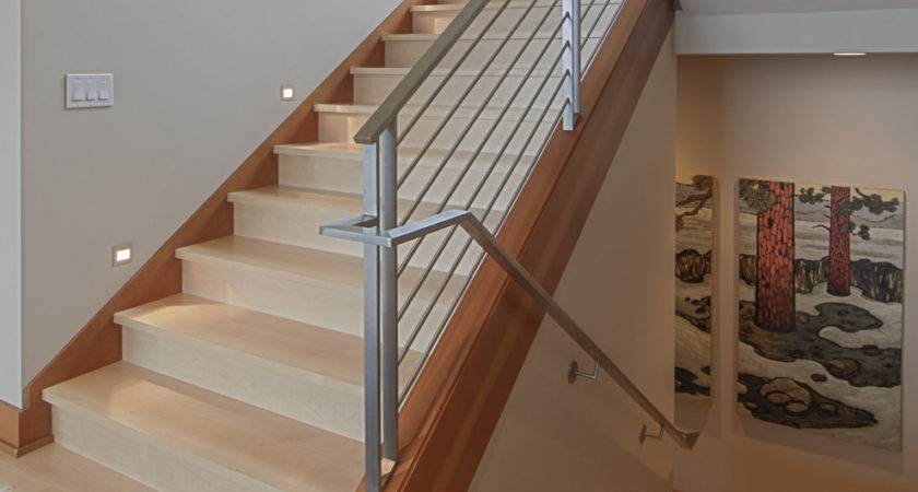 Stair Banister Ideas Staircase Contemporary Dark Wood