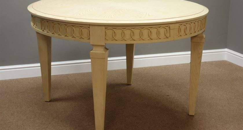 Stanley Limed Oak Circular Extending Dining Table Two