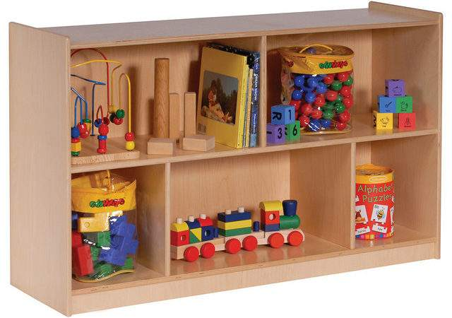Steffy Wood Products Inc Mobile Toy Storage Cabinet