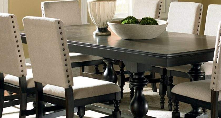 Steve Silver Leona Piece Dining Room Set Dark Hand
