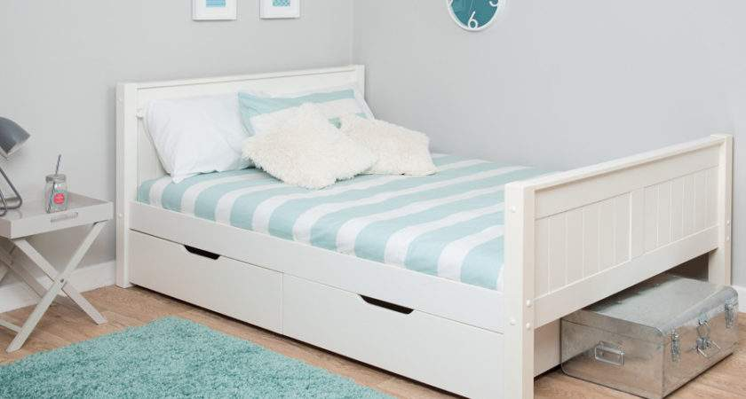 Stompa Small Double Bed Drawers