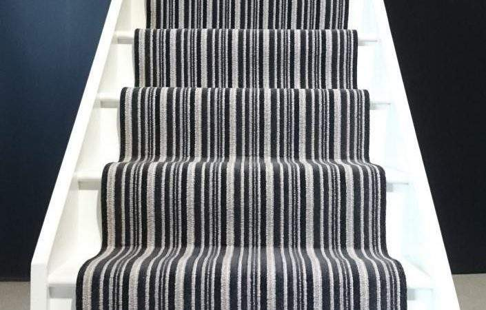 Striped Stair Runners Black White Red Many Other