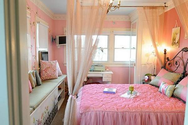 Stylish Pink Bedroom Decorations Girl