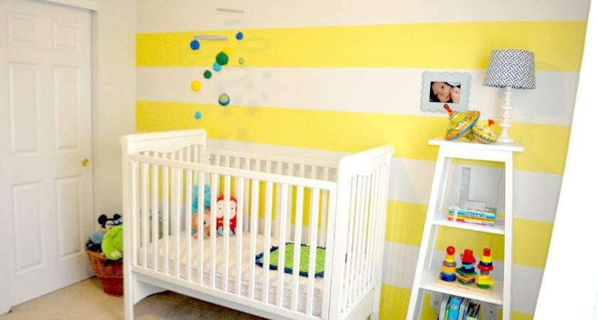 Sugartotdesigns Yellow Striped Nursery