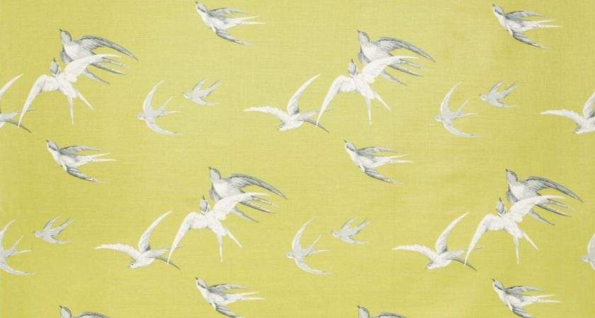 Swallows Lime Dviwsw Sanderson Vintage