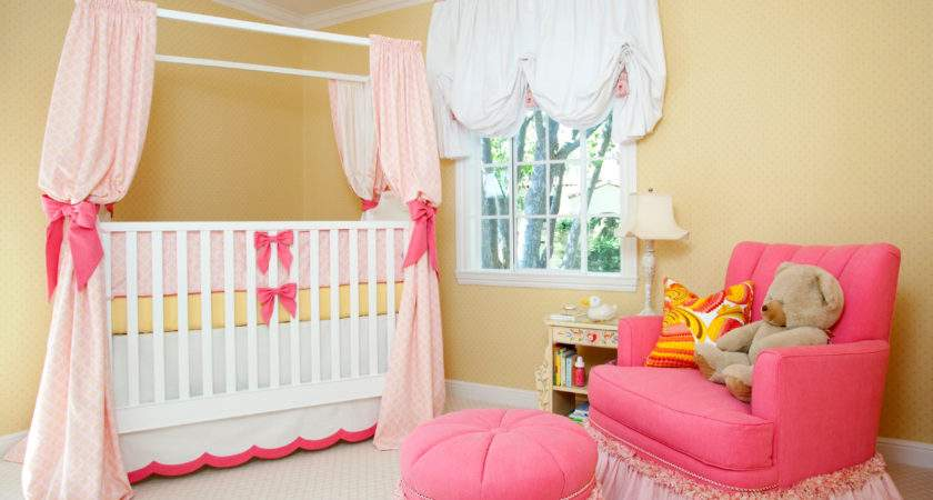 Sweet Pink Yellow Baby Girl Nursery House Ruby