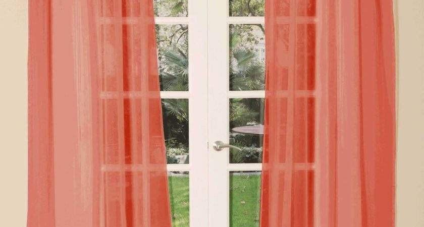 Tab Top Voile Single Curtain Panel Delivery