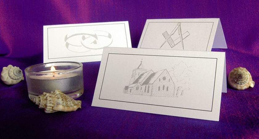 Table Place Cards Wedding Masonic Meal Party Name Setting