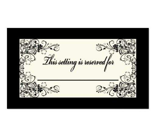 Table Setting Card Business Zazzle
