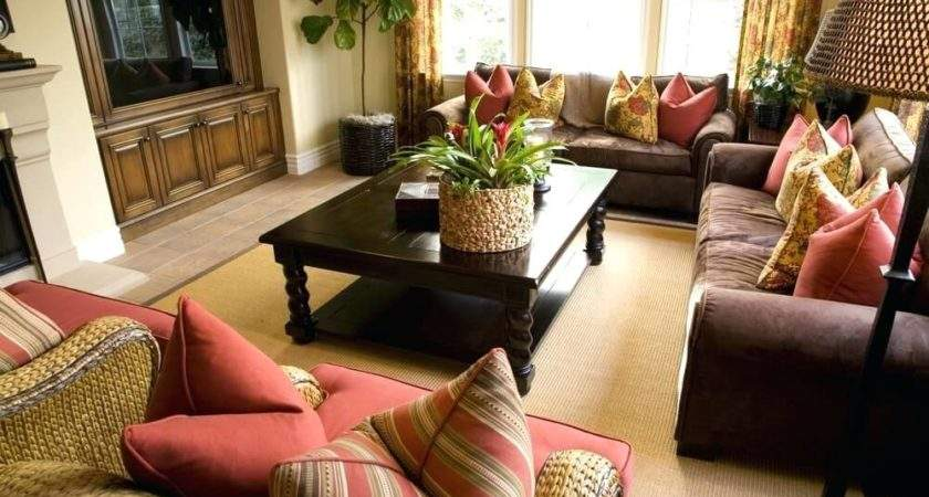 Tan Brown Red Living Room Myfamilyliving