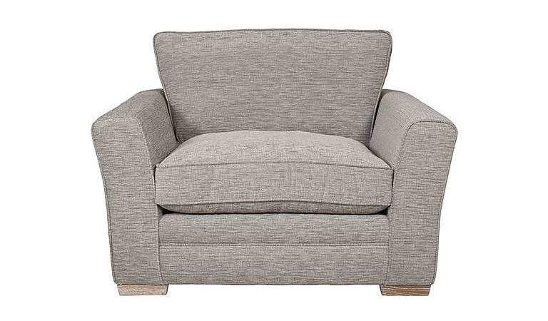 Tangier Fabric Snuggler Swivel Armchair