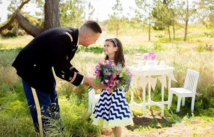 Tea Party Photos Military Dads Daughters Brew