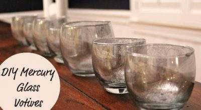 Ten June Diy Mercury Glass Votives