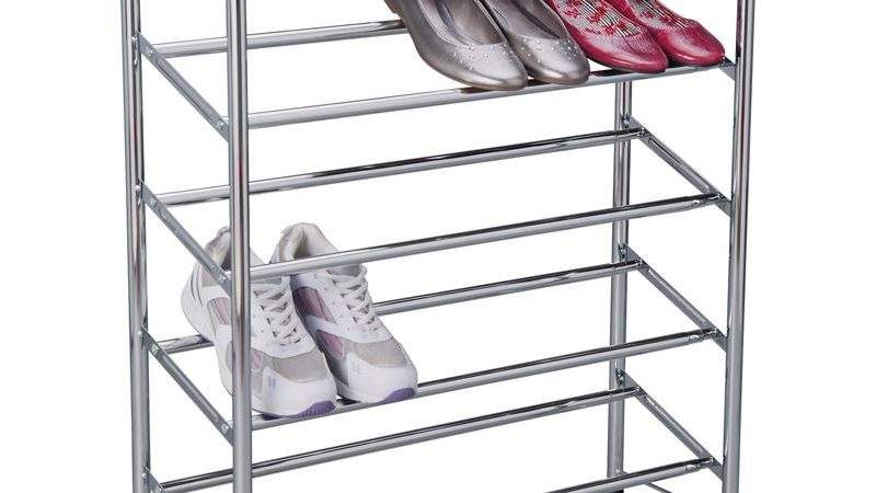 Tier Extendable Shoe Storage Rack Chrome Plated