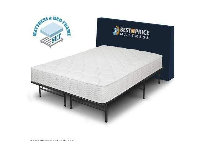 Tight Top Spring Mattress Bed Frame Set Twin