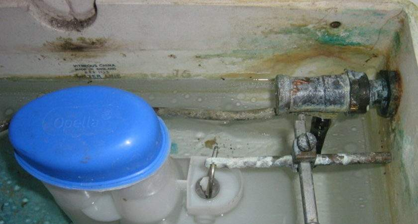 Toilet Cistern Replace Old Valve Ball Cock