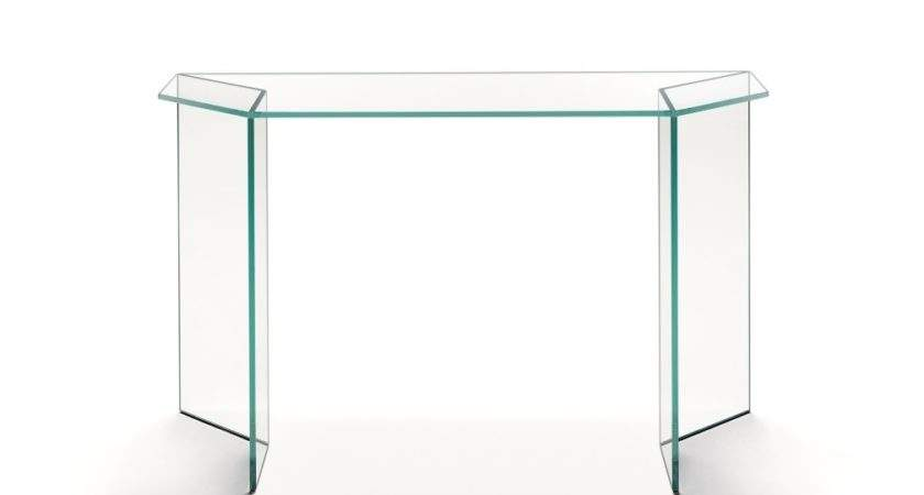 Tonelli Mirage Glass Console Table Modern Tables