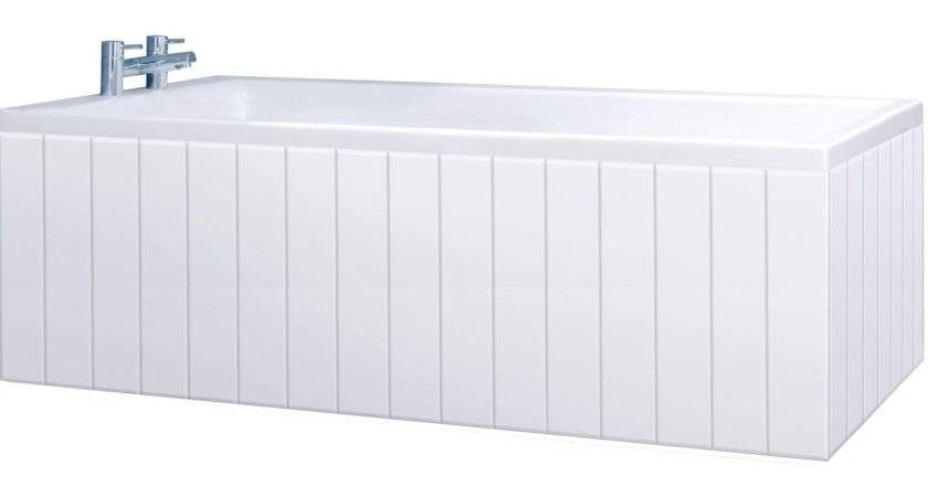 Tongue Groove High Gloss White Piece Bath Panels